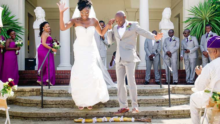 The-wedding-tradition-of-jumping-the-broom