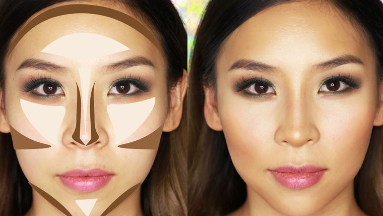 Contouring-and-highlighting-your-face