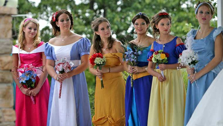 Fairytale-inspired-dresses-for-your-bridesmaids