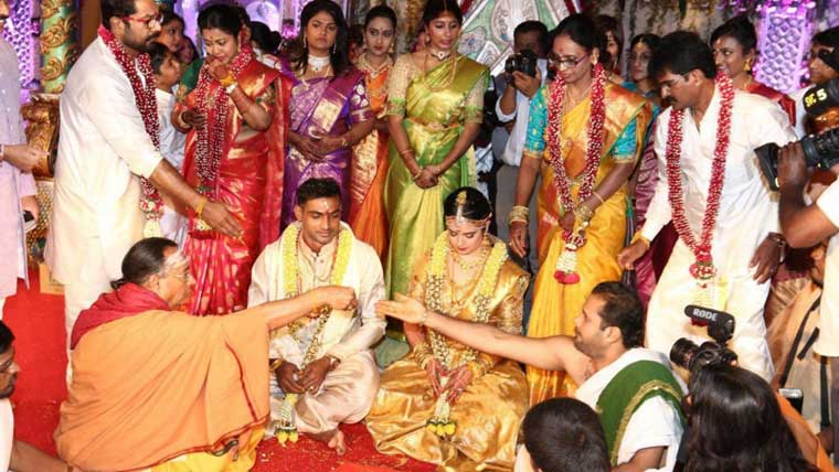 Raadhika's-daughter-Rayanne-marries-cricketer-Abhimanyu-Mithun