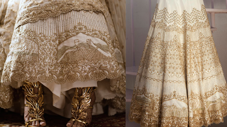The-hot-trend-of-stitching-love-story-on-the-bridal-wear